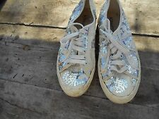 BASKET SUPERGA COLLECTOR T 39 SEQUINS STRASS BEIGE IVOIRE CREME TBE 20 ACHT IMM
