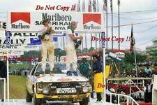 Hannu Mikkola & Arne Hertz Audi 200 Quattro Safari Rally 1987 Photograph 1