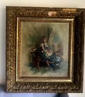 Estate Found antique oil painting on canvas by Lucy Fields Dated 1898