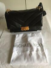 Michael Kors 100% Authentic CECE  Medium Shoulder Bag Black Quilt New withTags