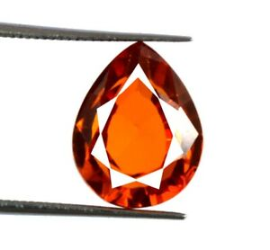 Padparadscha Orange Sapphire Pear 8.55 Ct Gemstone 100% Natural Certified Y3564
