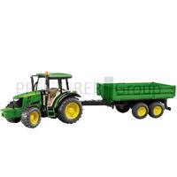 Bruder John Deere 5115M mit Anhänger 1:16 Spielzeugtraktor Modelltraktor Traktor