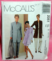 Uncut McCalls Sz 12-16 Princess Seam Lined Jacket Skirt & Pant Pattern 2051 Suit