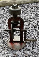 VINTAGE COOPER STEWART HAND CRANK BENCH GRINDER CAST IRON NO 4b