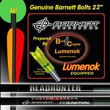 "Burt Coyote Lumenok 22"" Barnett Carbon HeadHunter Bolt Green Crescent 3pk #00316"