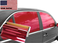 """One Way Mirror Film Reflective Uv Window Color Tint (Red, 20"""" x 5' )"""