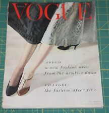 October Vogue 1953 Rare Vintage Vanity Fair Fashion Design Collection Magazine
