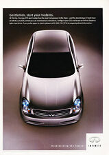 2003 Infiniti G35 Sedan - Classic Vintage Advertisement Ad H21