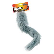 Grey Animal Tail Halloween Fancy Dress Accessory Werewolf Wolf Crazy Squirrel