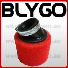 RED 41mm 42mm Bent Angled Foam Air Filter Pod 150cc PIT Quad Dirt Bike ATV Buggy