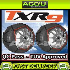 "9mm 14"" 15"" 16"" 17"" Car Wheel Tyre TUV Approved Snow Chains Pair +Gloves Mat N80"
