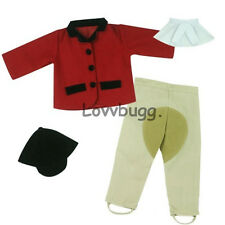 """Red Horse Riding Habit Set Incl HAT for 18"""" American Girl Doll Best Selection!"""