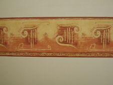 CORINTHIAN TERRACOTTA RED BROWN BED ROOM WALLPAPER BORDER SELF AD 5m X 14cm