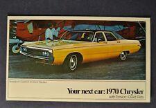 1970 Chrysler Newport 4-Door Sedan Postcard Brochure Excellent Original 70