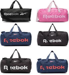 Reebok Duffel Duffle Bag Sports Gym Travel Training Holdall Bags Black Blue Pink