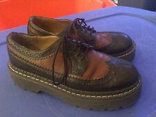 *Vintage* 1990s Lower Eastside Wingtip Oxford Creepers / Platform Shoes Size 5.5