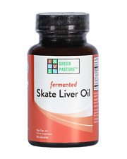 NEW Fermented Skate Liver Oil   Green Pasture   Blue Ice   120 Capsules