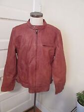 mens LUCKY BRAND cafe racer leather motorcycle jacket XL NWOT