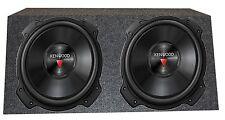 2) Kenwood 2000 Watt 12 Inch 4 Ohm Subwoofers + Qpower Dual Sealed Enclosure