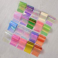 20Pcs Starry Sky Foils Nail Art Transfer Sticker Paper Glitter Tips Manicure set