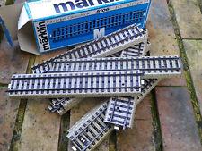 MARKLIN 5106 boite de 10 rails droites avec ballast HO parfait état, comme neuf.