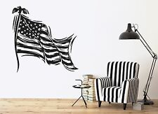 Wall Stickers Stars Striped Symbol of the State Flag of USA Vinyl Decal (n370)