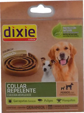 Dixie Collier Répulsif avec Géraniol pour chiens - 58 cm - Marron
