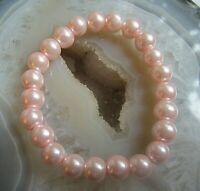 zugarmband armband mit rosa muschelkern? perlen ca 90er