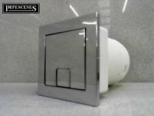 Twin Hose Toilet Push Button Dual Flush Air Type Pneumatic Square