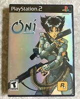 ONI Playstation 2 Game 2001 PS2 + Rockstar Booklet FREE SHIP! Tested *No Manual*