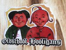 Auto Aufkleber Oldschool Hooligans - Retro Sticker Comic Kult / Max & Moritz JDM