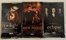 Twilight Saga 3 Sealed Packs of Cards - Twilight, New Moon & Eclipse 1 of Each