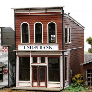 HO SCALE BANTA MODEL WORKS #2154 Union Bank laser cut kit