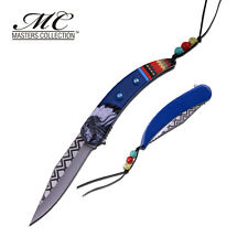 MC MASTERS COLLECTION American Indian Blue Spring Assisted Knife 3CR13 Steel