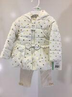 LITTLE ME BABY GIRL 3 PIECE JACKET SET(LEGGING/PANT/JACKET) GOLD/WHITE 18M NWT