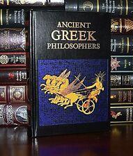 Ancient Greek Philosophers Plato Aristotle Epicurus New Deluxe Leather Bound