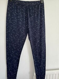 Navy Flecked Stretch Leggings. Size XL (approx 14/16).New