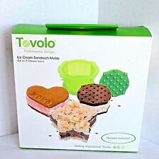 New TOVOLO Ice Cream Sandwich Molds Set of 3 Heart Star Squircle Shapes