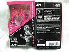 JVC HA-ETX30 Extreme Sport Inner Ear Waterproof Washable Headphones Pink Purple