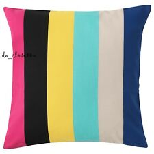"IKEA Cushion Cover Sommar 2018 Square Pillow Cover 20x20"" Striped multicolor NEW"