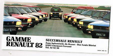 ANCIENNE BROCHURE RENAULT 1982 R4 R5 R14 R9 R18 FUEGO R20 R30 ALPINE RODEO
