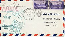 USA FIRST FLIGHT COVER 1938 ALBANY CA. AIR MAIL ROUTE No 40 SIGNED BY POSTMASTER