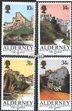 Verenigd Koninkrijk-Alderney 28-31 postfris 1986 Forten