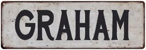 GRAHAM Vintage Look Personalized Rustic Chic Metal Sign 106180036396