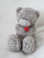 "ME TO YOU 6"" TEDDY BEAR BEANIE SOFT TOY HOLDING RED ROSE"