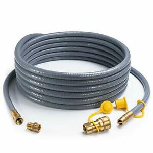 Shinestar 24 Feet 1/2-Inch Id Natural Gas Hose With Quick Disconnect Fittings Fo