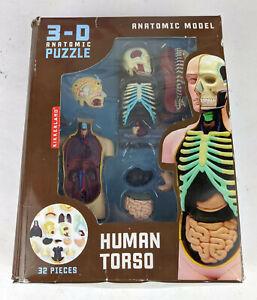 Kikkerland Human Torso Anatomical 3-D Puzzle Model 32 Pieces