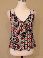 Womens tank top blouse cami size M