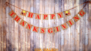 Happy Thanksgiving Banner, Thanksgiving Party Decorations,Supplies Favors, USA