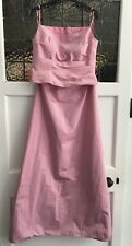 John Charles Pale Pink Bridesmaid Prom 2 Piece Dress Size 14 Beads Sparkle!